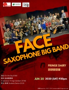 【Cancelled】FACE Saxophone Big Band Live